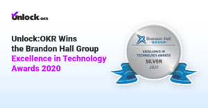 Unlock-OKR Wins the Brandon Hall Group Excellence in Technology Awards 2020